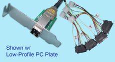 SFF-8644 to (4) SFF-8680