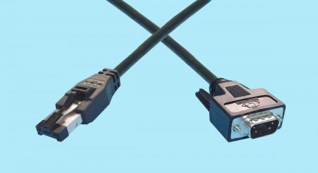 HSSDC - DB9 Male Fibre Channel Cables
