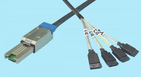 SFF-8088 to Internal (4) SATA 7-Pin