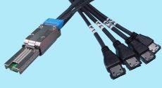 SFF-8088 to (4) eSATA Shielded 7-pin