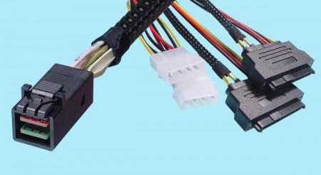 SFF-8643 to (2) SFF-8680