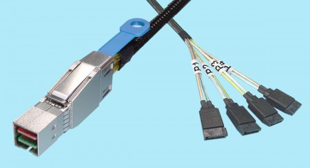 SFF-8644 to SATA 7-pin (X4)