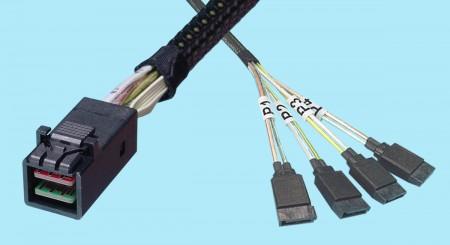 SFF-8643 to SATA 7-pin (X4)