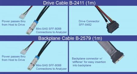 SAS Analyzer test cables