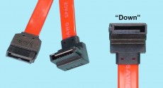 Serial ATA Drive Cables - 7-pin straight to R/A 7-pin 'Down'
