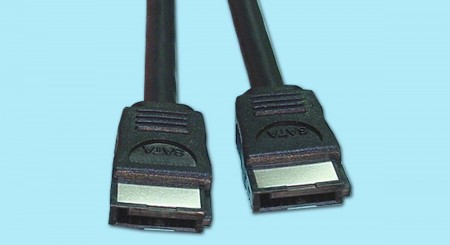 Shielded SATA Cable - 7-pin Shielded SATA Connector both ends